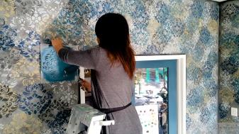 stencilled walls at TR (10)